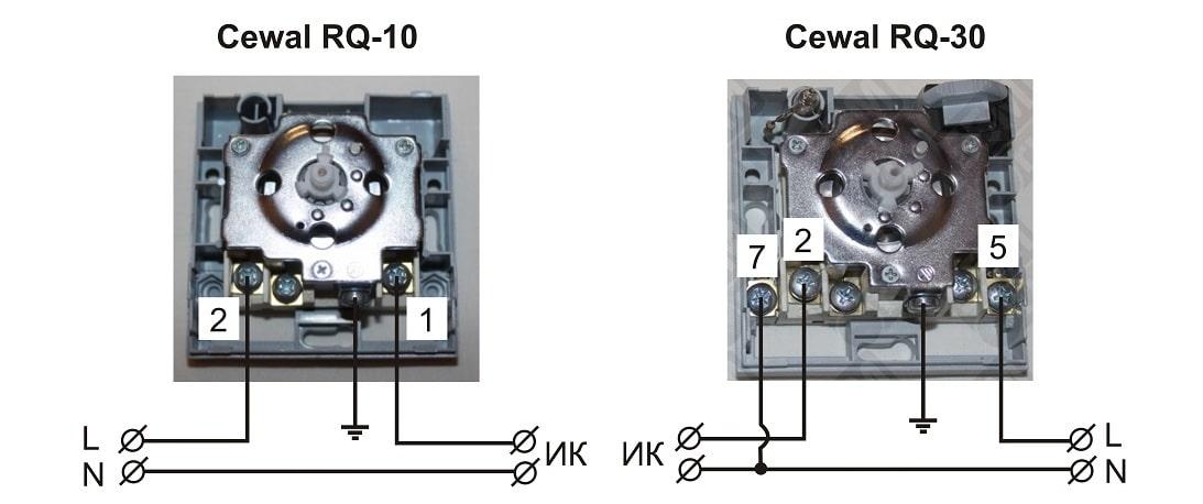Инструкция по монтажу терморегуляторов CEWAL RQ-10 и RQ-30