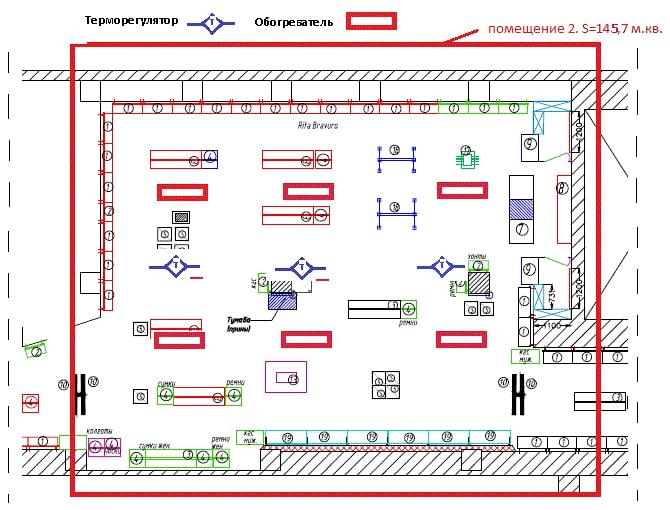Теплотехнический расчет помещения