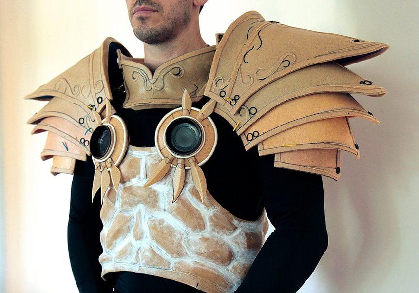 Доспех для ролевого костюма, выполненный преимущественно из ПКл