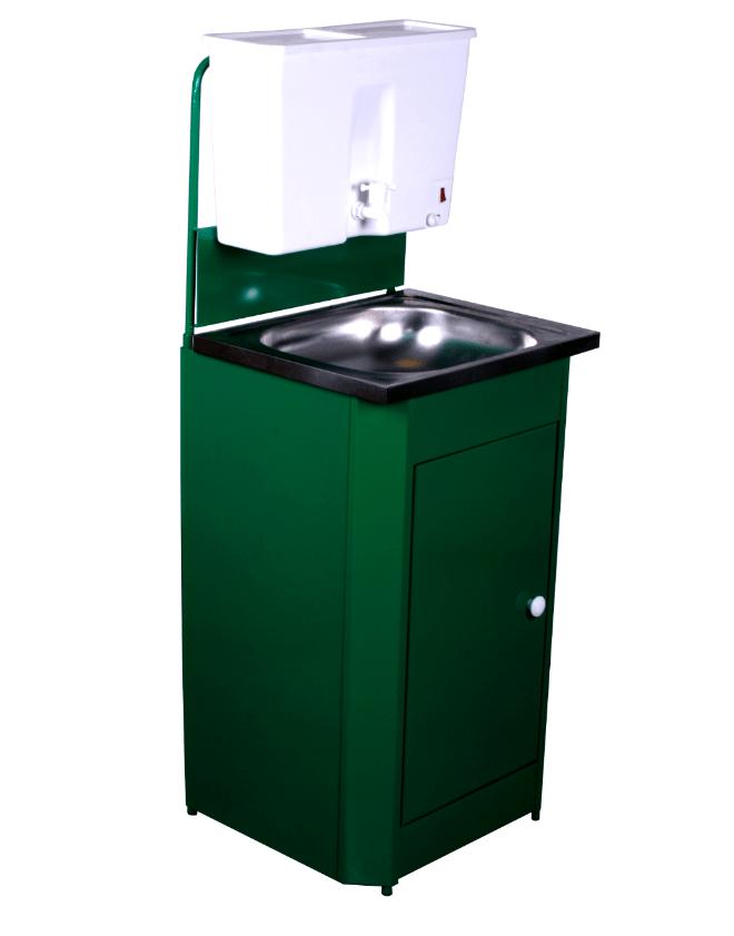 Умывальник дачный с подогревом Универсал, цвет зеленый