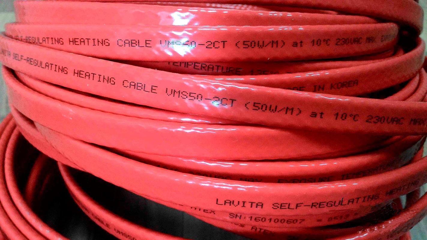 Саморегулирующийся греющий кабель SRM 50-2CT, 50 Вт/м)