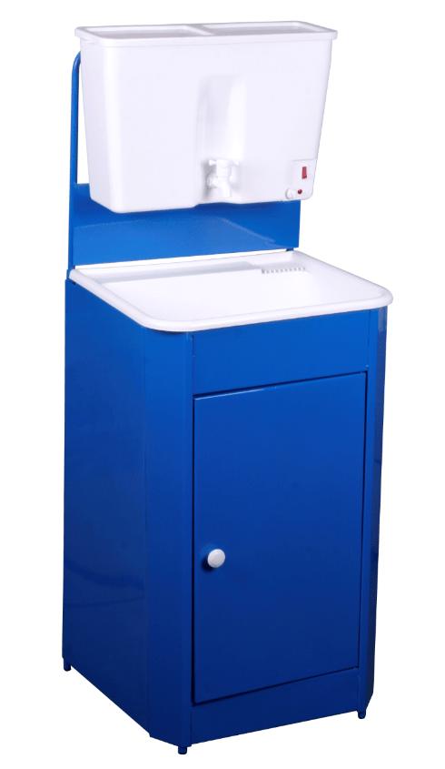 Умывальник дачный с подогревом Универсал, цвет синий (пластик)