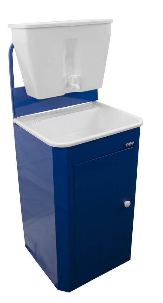 Умывальник без ЭВН ИСТОК, цвет синий (бачок и раковина пластик)