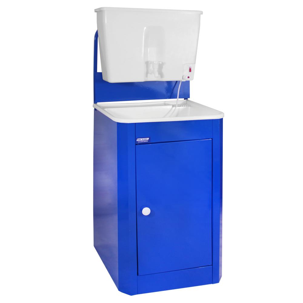 Умывальник дачный с подогревом ИСТОК, цвет Синий (бачок и раковина пластик)