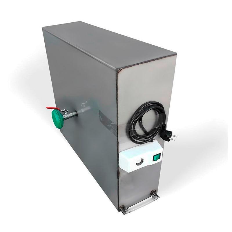 Бак для душа Успех 102 л, с подогревом, 2,0 кВт [регул. нагрев 20-80 ℃] 200х600х850 мм, с уровнем воды