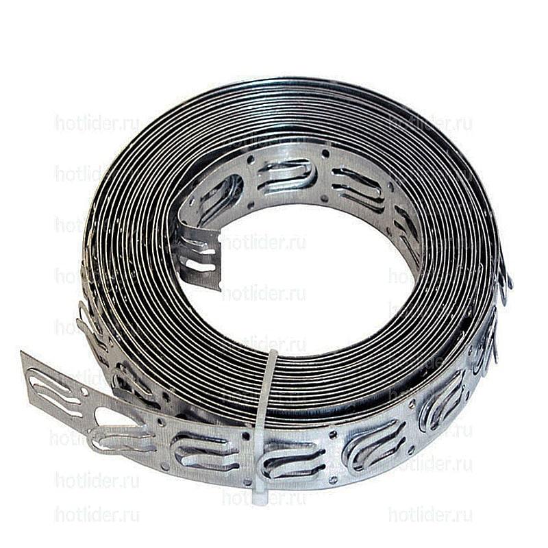 Лента монтажная ЛТП 20х0,4 для греющего кабеля [бухта 20м]