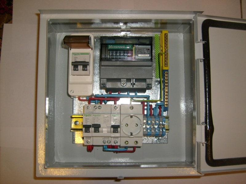 Электрощит для дачи, 40А IP31, уличный, металл