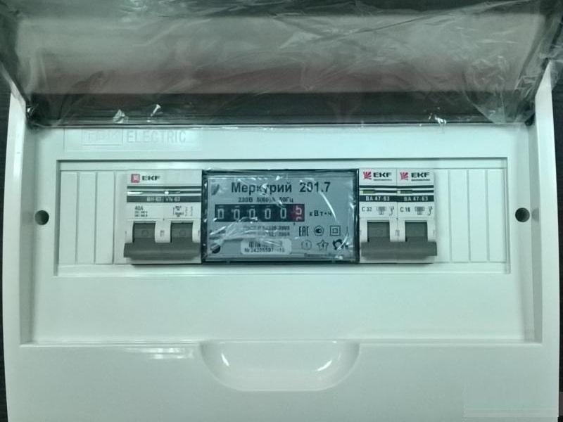 Электрощит для гаража, 40А IP41 пластик (вариант 1)