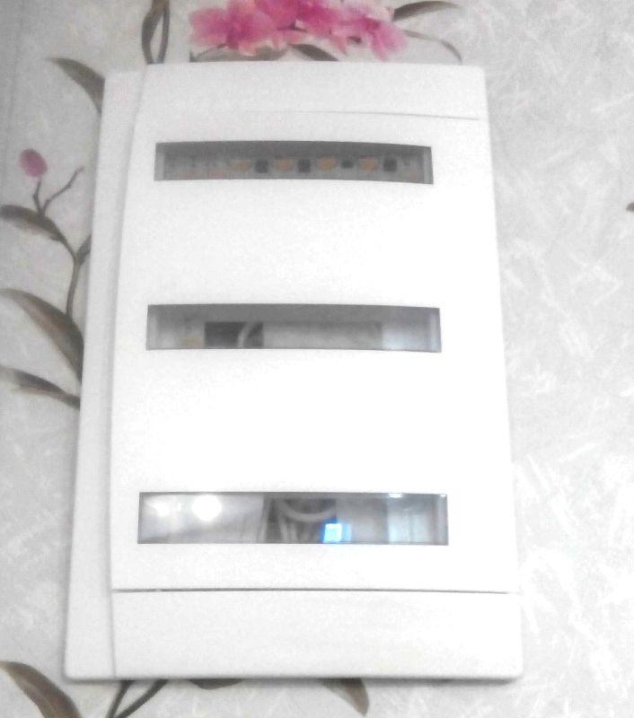 Электрощит для квартиры, универсальный, 50А, IP40 пластик