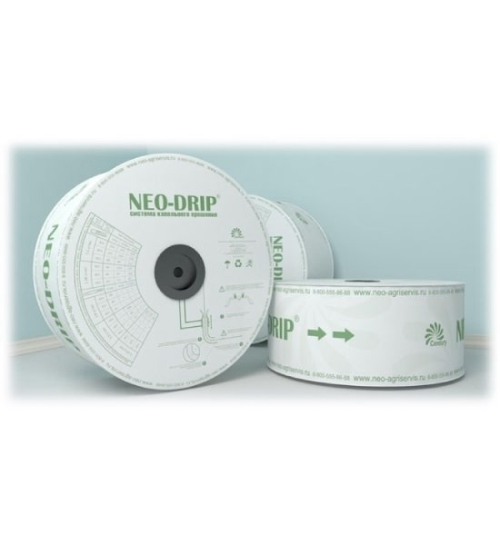 Капельная лента эмиттерная Neo-drip шаг 20, 2,4 л/ч