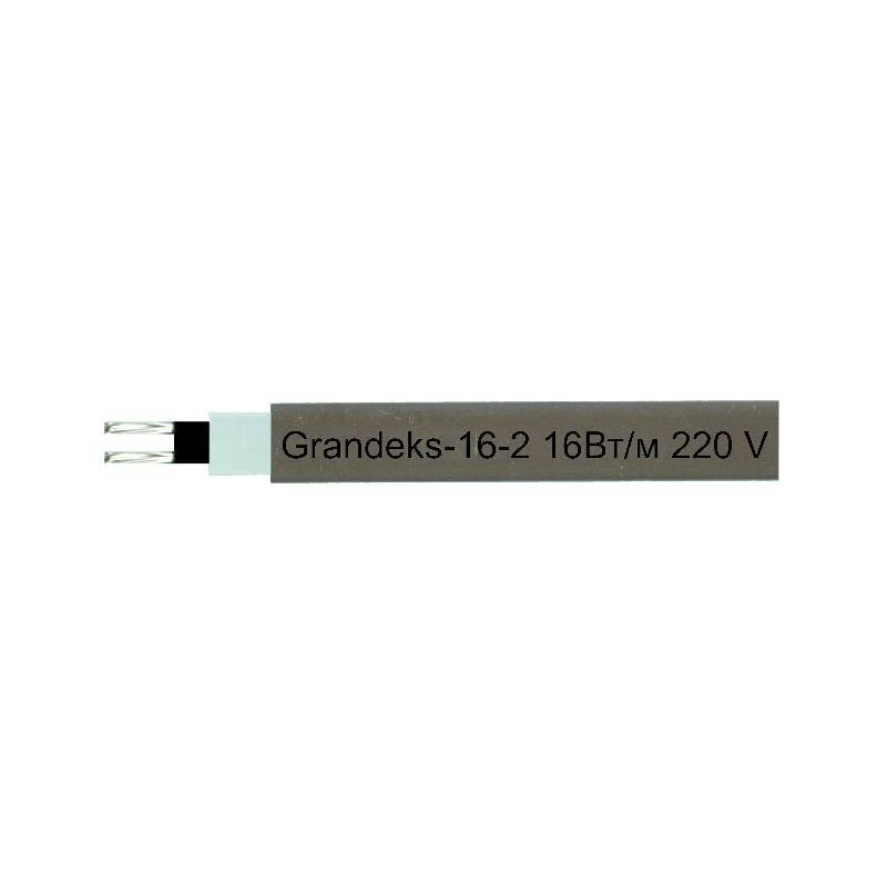 Греющий саморегулирующий кабель Grandeks-16-2, 16W